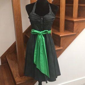 Anthropologie Pinstripe Halter Dress